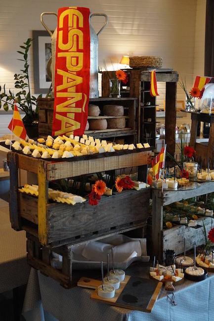 Buffet Fromages équipe d'Espagne Euro 2016 3