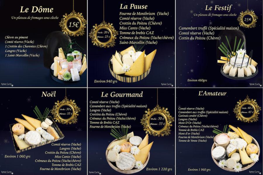 Plateau fromages fetes de fin d'année 2018