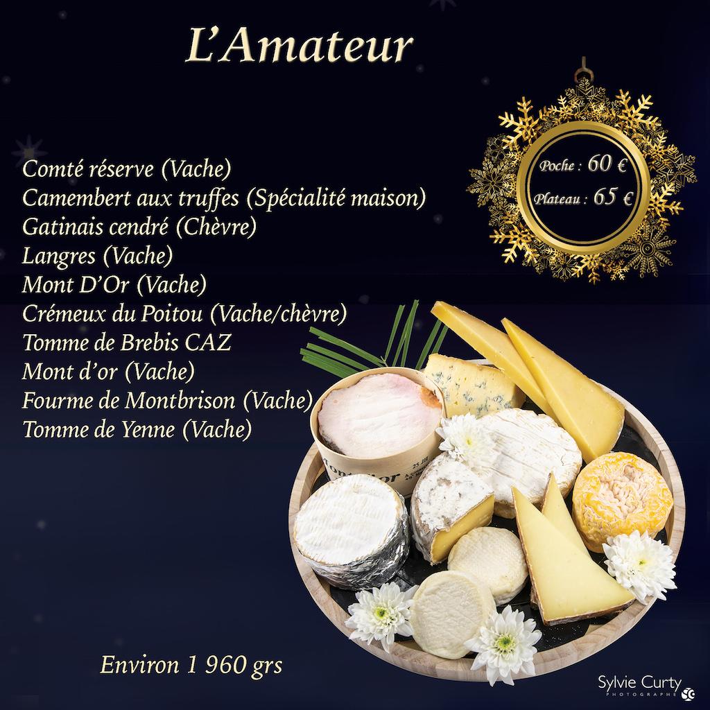 Plateau fromages fete fin d'annee L'amateur