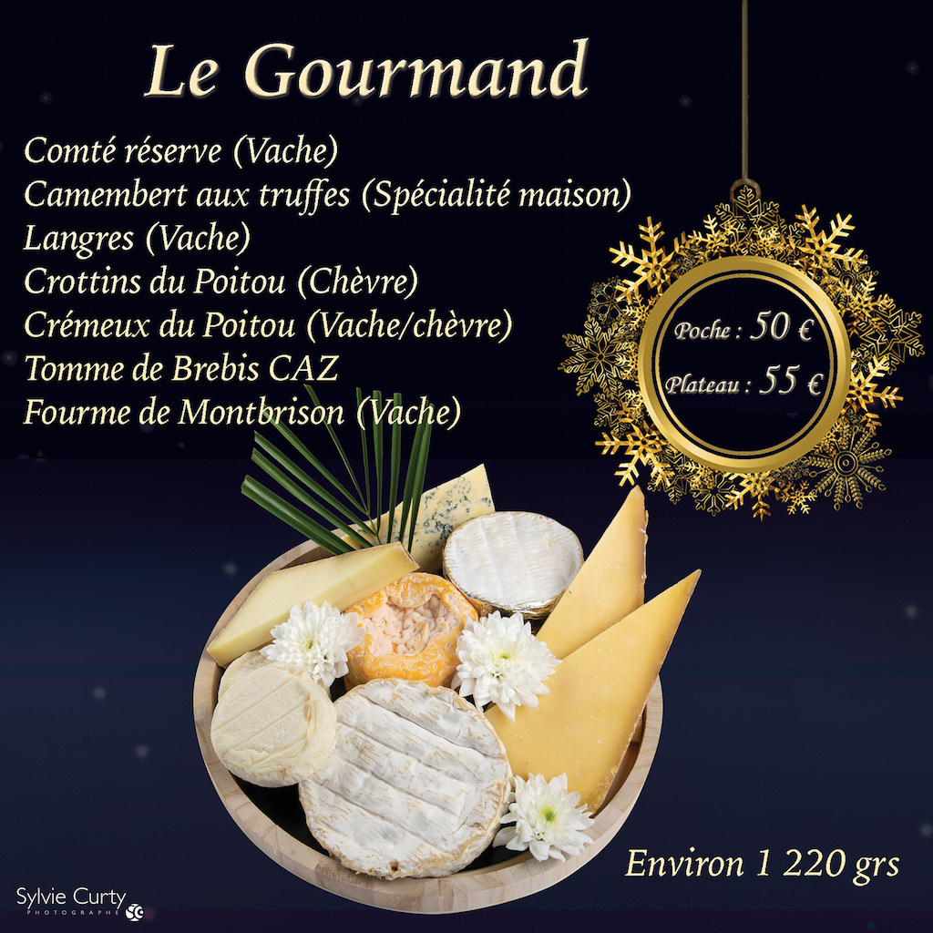 Plateau fromages fete fin d'annee Le Gourmand