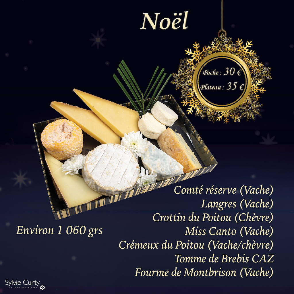 Plateau fromages fete fin d'annee Noel