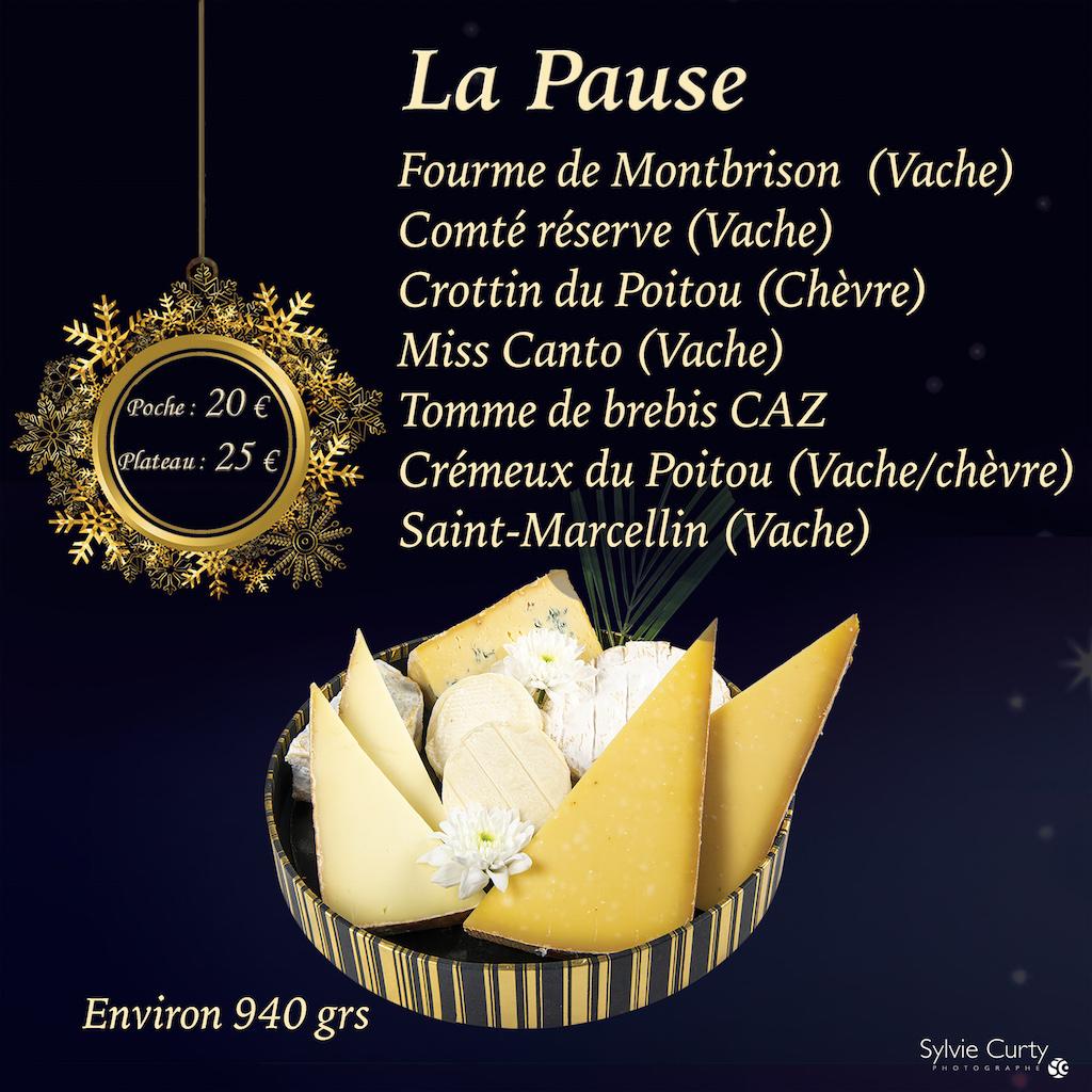 Plateau fromages fete fin d'annee Dome La Pause