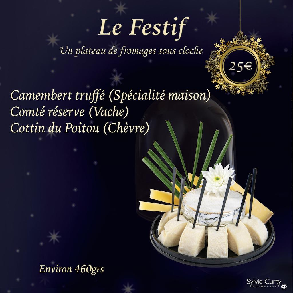 Plateau fromages fete fin d'annee Dome Le Festif