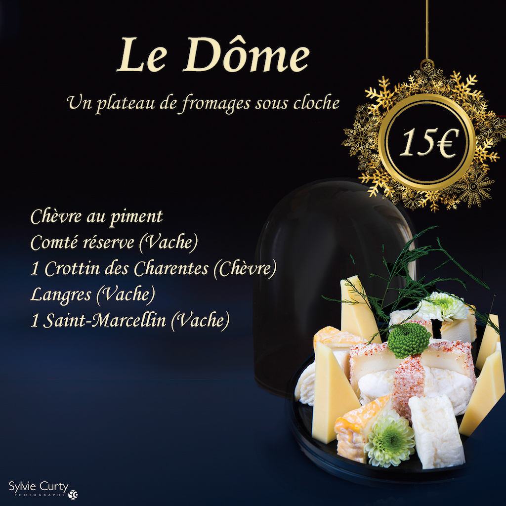 Plateau fromages fete fin d'annee Dome
