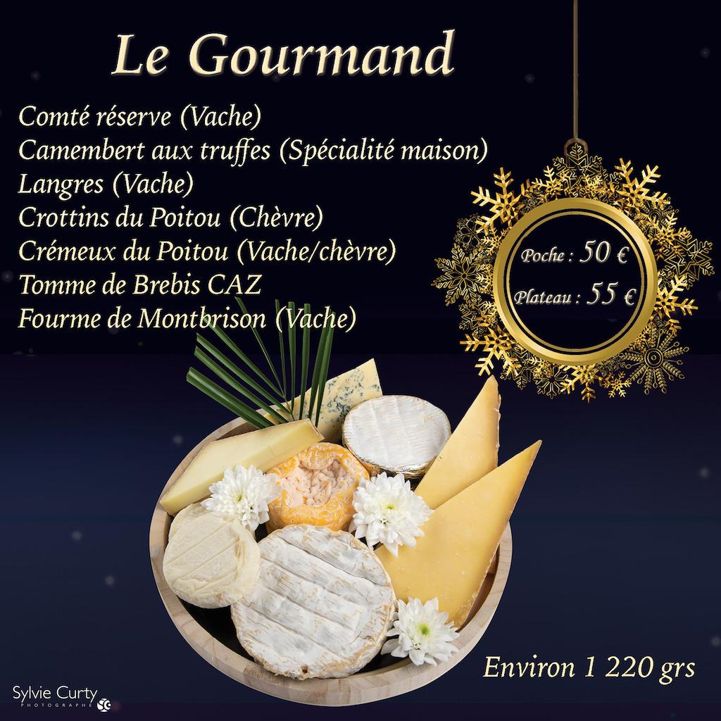 Plateau fromages fete fin d'annee Le Gourmand